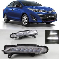 Car Styling LED Daytime Running Lights For Toyota Yaris Yaris Ativ 2016 2017 2018 DRL Car