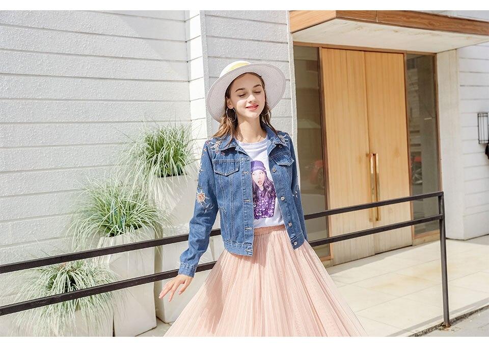 Cazadora 2018 Chaqueta Mezclilla Moda Mujeres Compre Otoño De q8fx4wxzI