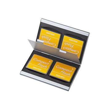4 in 1 Aluminum Memory Card Case for 4PCS CF Card