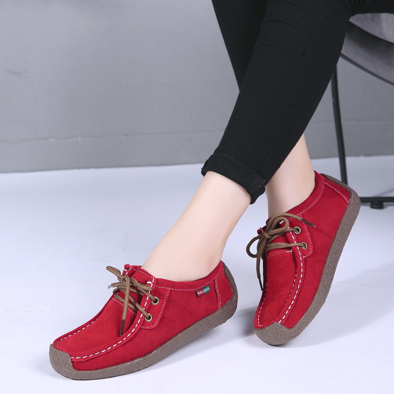Leather Shoes Women Loafers Summer Moccasins Woemen Platform Shoes Lace Up Ladies Ballet Fats Casual Oxford Shoes Zapatos MujerLeather Shoes Women Loafers Summer Moccasins Woemen Platform Shoes Lace Up Ladies Ballet Fats Casual Oxford Shoes Zapatos Mujer