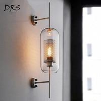 Industrial Style Living Room Wall Lamp Loft Retro Luxury Creative Corridor Stairs Luminaire Industriel Glass Wall Light Vintage