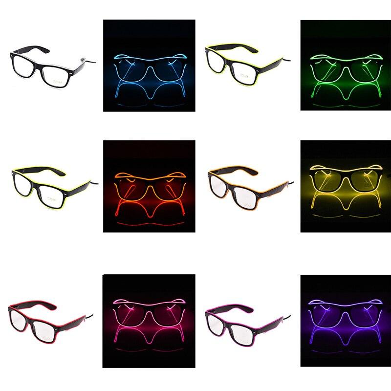 New Fashion EL Wire LED Occhiali Neon LED Flash Light Attivando ...