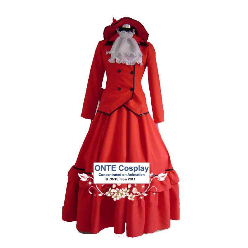 Anime Black Butler Rochii Cosplay Costume Madame Red Fancy Partidul - Costume carnaval