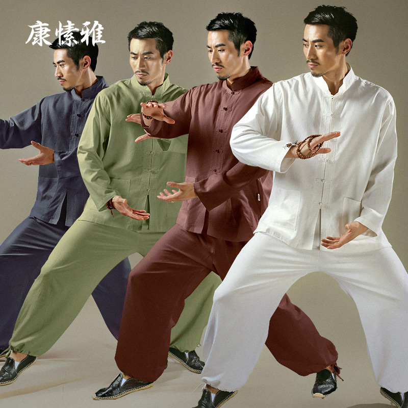 2017 Man Yoga Set Solid Large Size Yoga Shirt Pants Zen Meditation Kong Fu Clothing Man Sportswear Set Gym Yoga Suit Tracksuit недорго, оригинальная цена