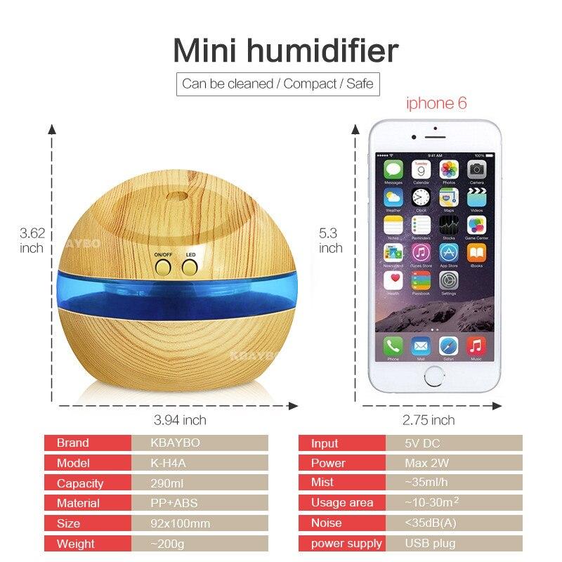 USB ულტრაბგერითი humidifier, 300ml - საოჯახო ტექნიკა - ფოტო 2