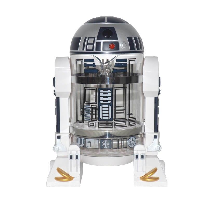 R2-D2 Household Hand Punch Coffee Machine Coffee Press Pot Percolator Star Wars R2-D2 Mini Coffee Machine Insulation Pot 1pc