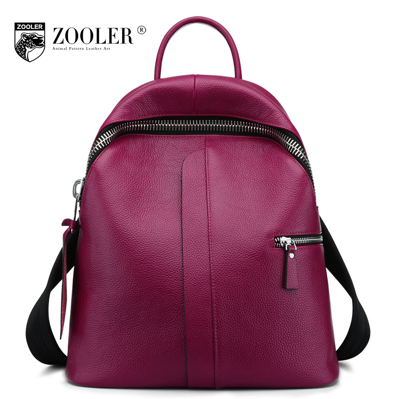 ZOOLER Genuine Leather Backpack 2017 New Winter Brand School Bags Mochila Feminina Escolar Fashion Color Lady Backpack Sac A Dos women sequin backpack mochila lentejuelas teenager girl school bags bling bling lady backpacks bolsa feminina sac a main femme