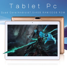 Baru 10 Inch Desain Asli Ponsel 3G Call Android 7.0 Quad Core 4G + 32G Tablet Android PC WIFI Bluetooth GPS IPS Tablet 10.1(China)