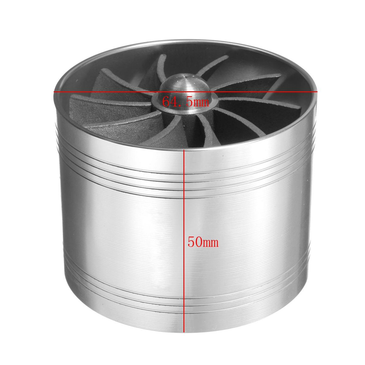 Image 5 - Universal 64.5mm  x 50mm Car Air Filter Intake Fan Fuel Gas Saver Supercharger For Turbine Turbo Charger Turbocharger-in Turbo Chargers & Parts from Automobiles & Motorcycles