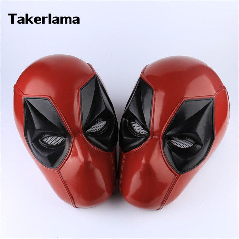 Takerlama tête pleine Deadpool super-héros masque Cosplay accessoires PVC casque adulte fête Halloween accessoires