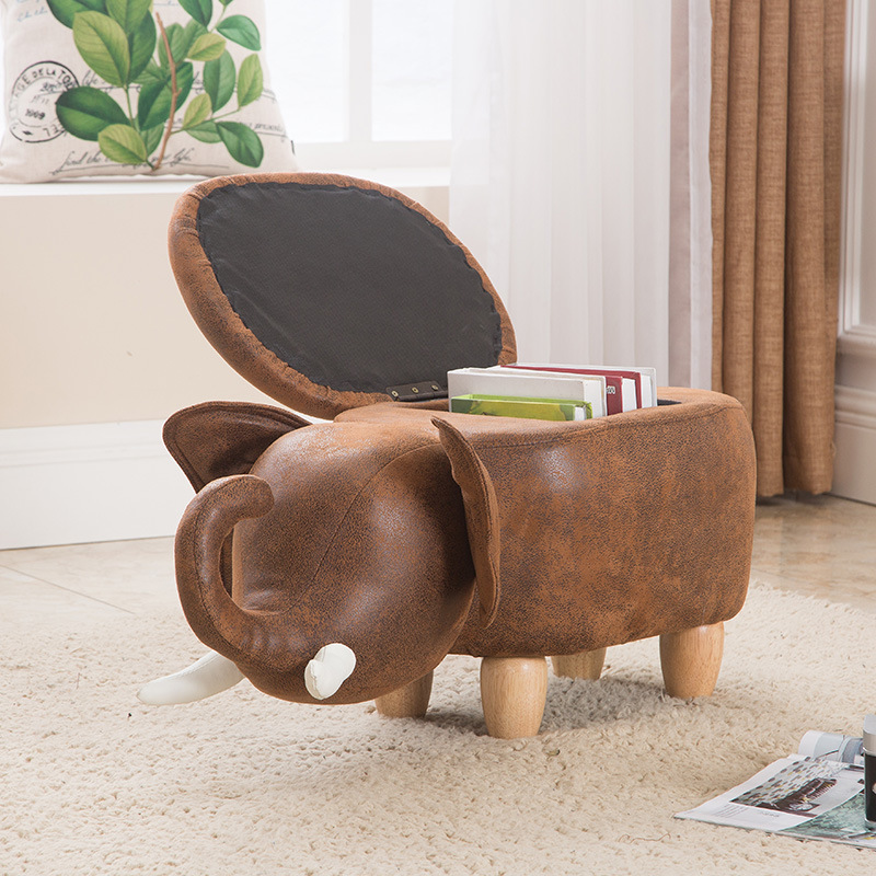 JZ0- Hot Sale The Elephant Foot Wooden Stool Sitting Pier Creative Children Sit Stool Lovely Cartoon Animal Shoes Stool Storage phfu cartoon animal children antiskid stool bathroom stool feet stool pink piggy