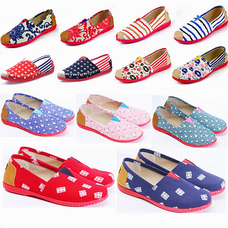 2017 New Womens fashion Espadrilles Slip-On Boat Flat Flats Fisherman Weave Casual Canvas Loafers oxford Lazy shoes