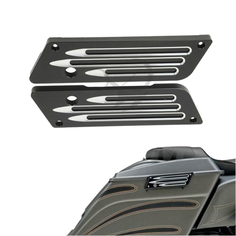 Motorcycle Saddlebag Latch Cover For Harley Touring Electra Street Glide 1993-2013 Touring Road King FLH FLT 93-13 11