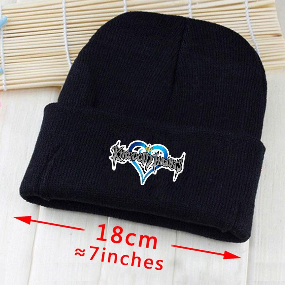 OHCOMICS Hot Game Kingdom hearts  Sora Keyblad Knitted Hat Cap Hip-Hop  warming  Black Blue Unisex Costume XMAS Gifts