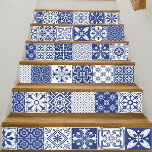 Image 5 - 中国青白磁ビニールデカールセラミックタイル階段装飾家の装飾床壁ステッカー