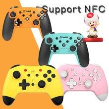 NS Switch Pro NFC Беспроводной Bluetooth контроллер, пульт дистанционного управления для Nintendo Switch NS консоль джойстик Bursh amiyopokemon