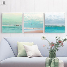 цена The Simple European Style Oil Painting Art Canvas Home Decor Of The Surging Wave Lapped The Sea Under The Sky With Some Cloud онлайн в 2017 году