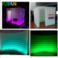 Inflatable wall and inflatable photo booth combination Enclosure tent led inflatable photo booth and LED wall Backdrops Hot sale