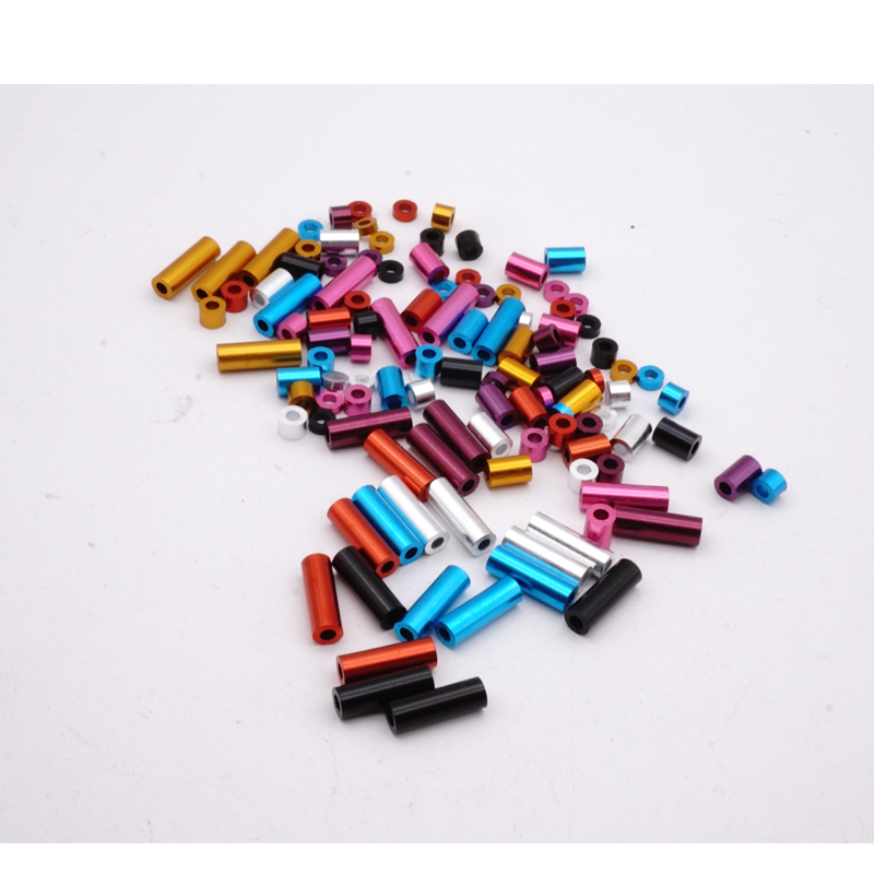 Mini 4wd Self-made Tamiya Onderdelen Aluminium Spacer Set 1.5mm/3mm/6mm/12mm Elke 4 Stuks Blauw Rood Zilver Zwart 7 Kleuren Mj Model