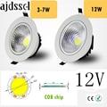 Светодиодный вниз светильник супер яркий светодиодный встраиваемые панели светодиодный пятно света COB 3 Вт 5 Вт 7 Вт 12 Вт Светодиодный точечн...