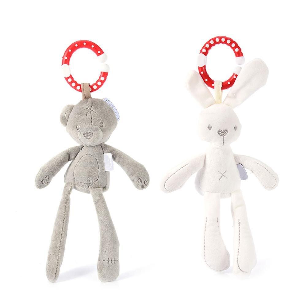 Детские мягкие плюшевые кролика и медведя коляска кукла погремушка Дети мобильный висит кровать колокол малыша автомобиль коляска для нов... ...