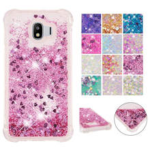 For Samsung Galaxy J4 2018 SM-J400 case Back cover Bling Glitter Dynamic Quicksand Liquid Case for Samsung Galaxy j4 2018 cover смартфон samsung galaxy j4 2018 j400 32gb черный
