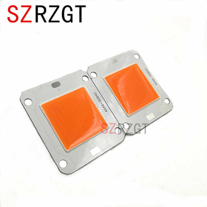 SZRZGT DC12V/32V 50W Grow LED Full Spectrum 400-840nm COB Diode Chip For DIY 50W 100W 200W 300W 500W LED Grow Light