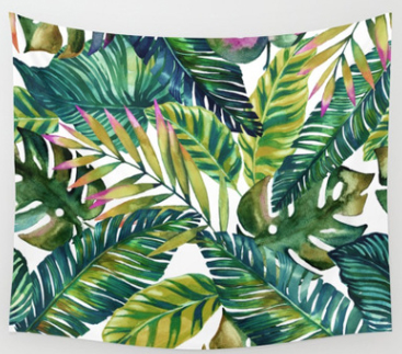 Hot Peach Velvet Forest Pattern Tapestry Beach Towel Wall Hanging Fashion Laid-Back Bedroom Childrens Room Living Rooms