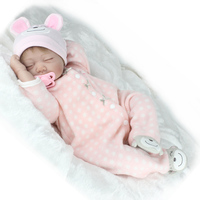 Lagopus New Fashion Silicone Reborn Dolls 22 Inch Sleeping Real Newborn Reborn Babies Toys For Girls Gift