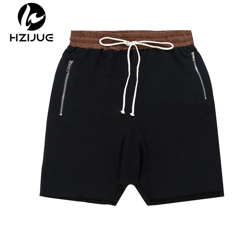 HZIJUE 2018 Men Shorts Kanye West New Summer Hip Hop Shorts Man Justin Bieber Casual short Pants Loose Boardshorts BLACK GRAY