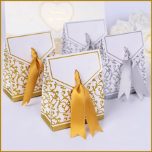 Free shipping 250pcs/lot Golden candy box , Paper gift box,wedding favor boxes-XTH012 (Golden)