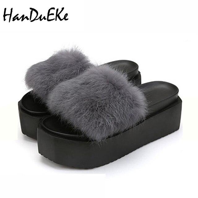 alto para tacón peludas Zapatillas elegantes mujeres para Zapatos de mujer qpSVUzM
