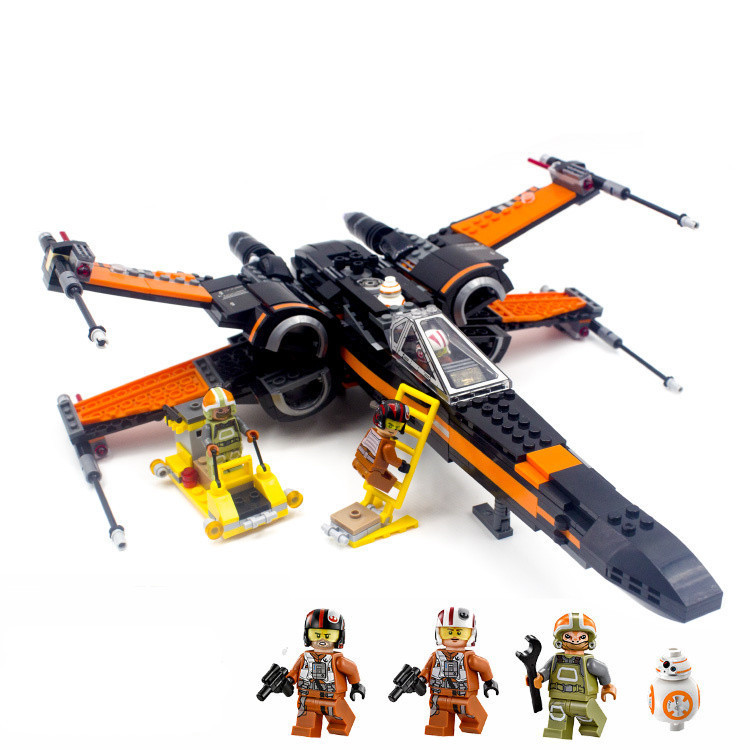 New-Lepin-05004-845pcs-Star-Wars-First-Order-Poe-s-X-wing-Fighter-Assembled-Toy-Building (1)