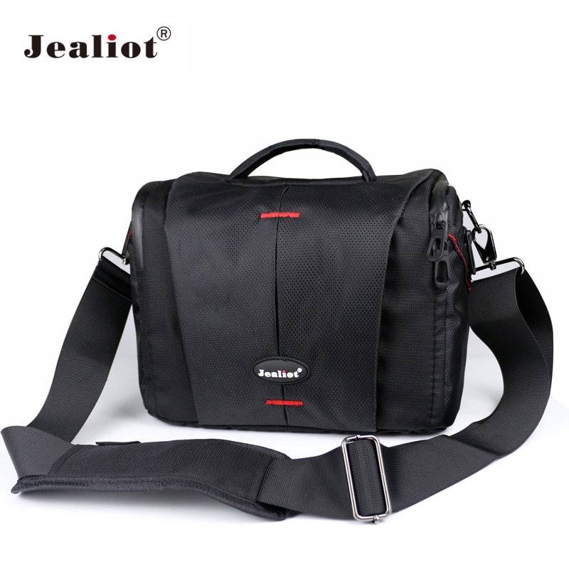 Jealiot Fashion Camera Bag Polyester Shoulder Bag DSLR SLR Photo digital Video lens Case for Canon Nikon Olympus Panasonic black jealiot waterproof slr dslr bag for camera bag shoulder digital camera video foto instax photo lens bag case for canon 6d nikon