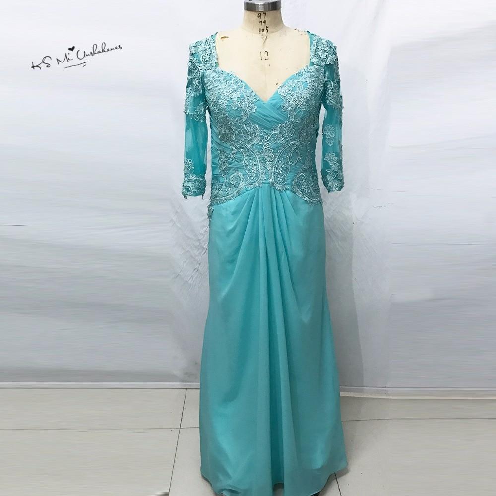 ᗑVestidos de festa vestido Longo azul Encaje vestido de noche 2017 ...