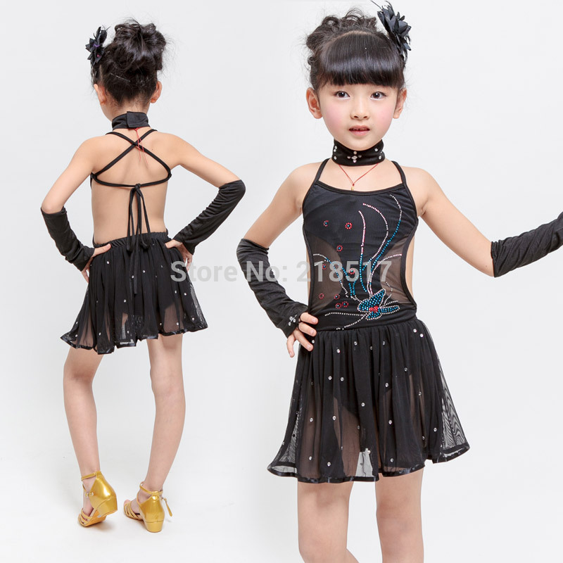 Aliexpresscom  Buy Black Latin Dance Dress Girl Clothes -7988