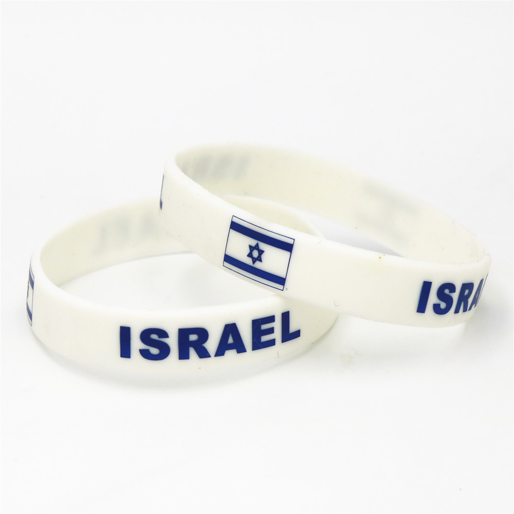 Us 1 99 1pc Football Team Sport Israel Flag Silicone Wristband White Soccer Fans Rubber Bracelet Bangles Jewelry 2018 Armband Sh229 In Hologram