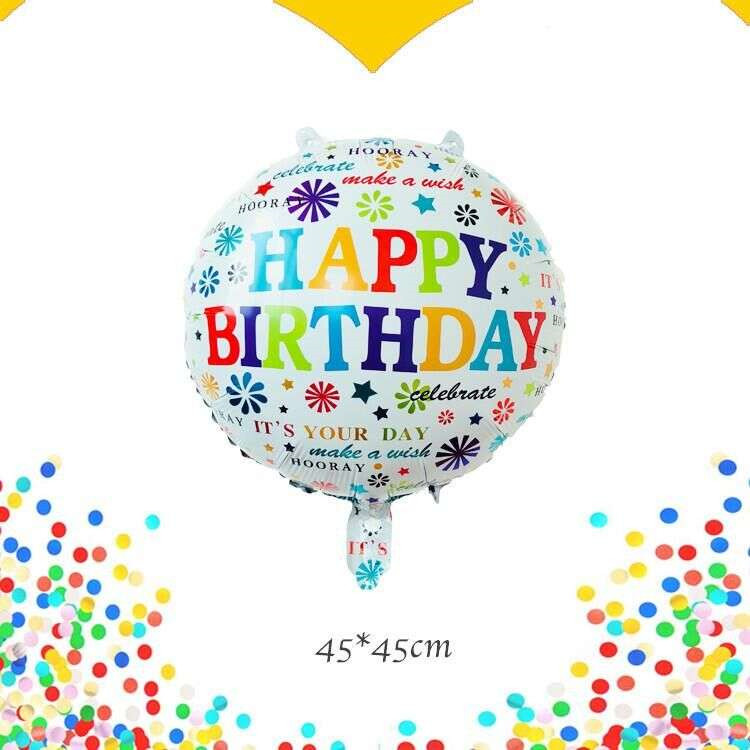 Lucky 10pcs/lot 45*45cm Pineapple Happy Birthday Balloon Inflatable Foil Helium Balloons ...