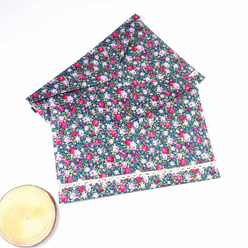 Vintage A4 Documents File Bags Dots Garden Flower Printing ONE