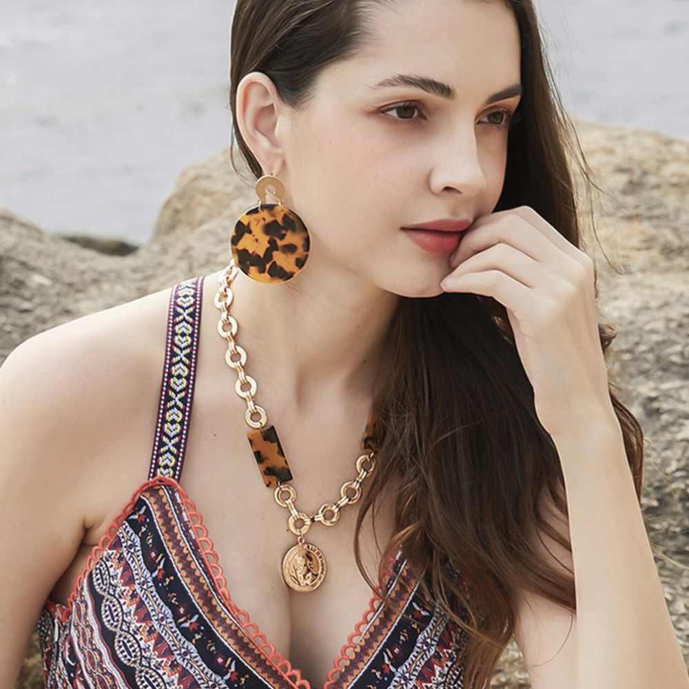 MANILAI อะคริลิคจี้สร้อยคอชุดสำหรับผู้หญิง Handmade Statement ยาวสร้อยคอสร้อยคอต่างหูชุดเครื่องประดับ