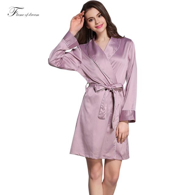 Robe de cetim Robe De Chambre Polaire Mulher Roupão Kimono Robe de Cetim Xadrez Robe 788
