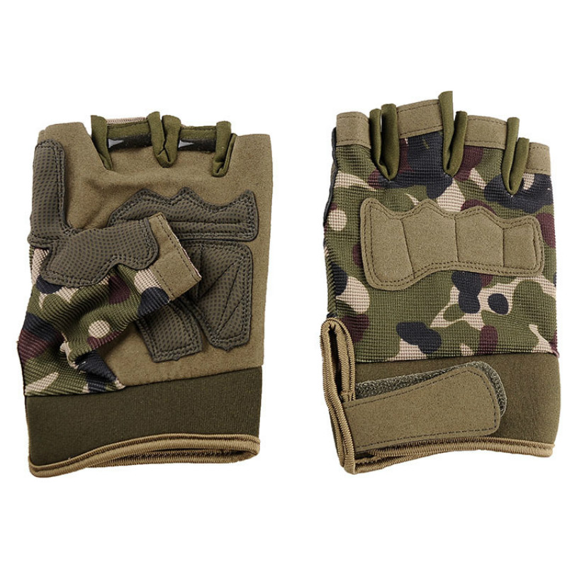 2019 Men's Fingerless Tactical Gloves Military Army Anti-Slip Outdoor Sports Gloves Shooting Paintball Airsoft Bicycle Gloves