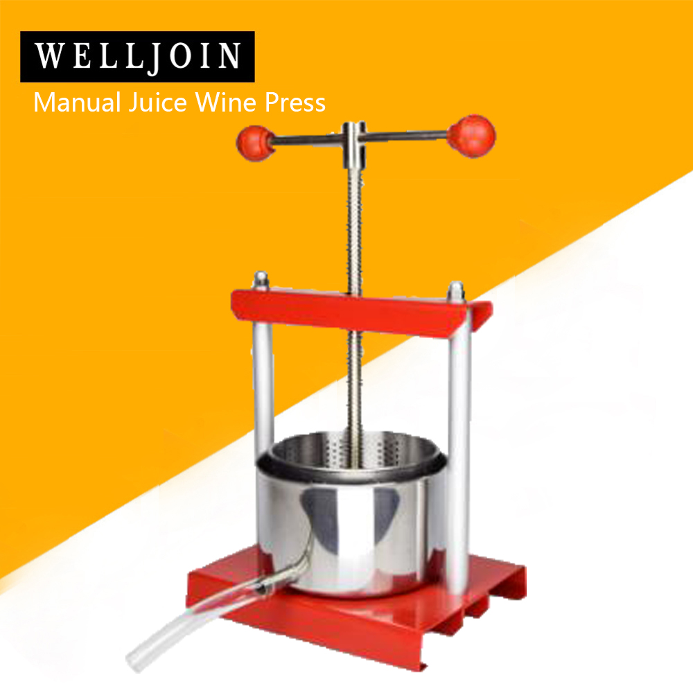 Household Small Stainless Steel Juice Wine Press Manual Grape Press
