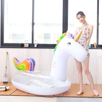 275CM New Inflatable Unicorn Pool Float Ride On Pegasus Swimming Ring For Adult Children Water Party Toys Air Mattress boia