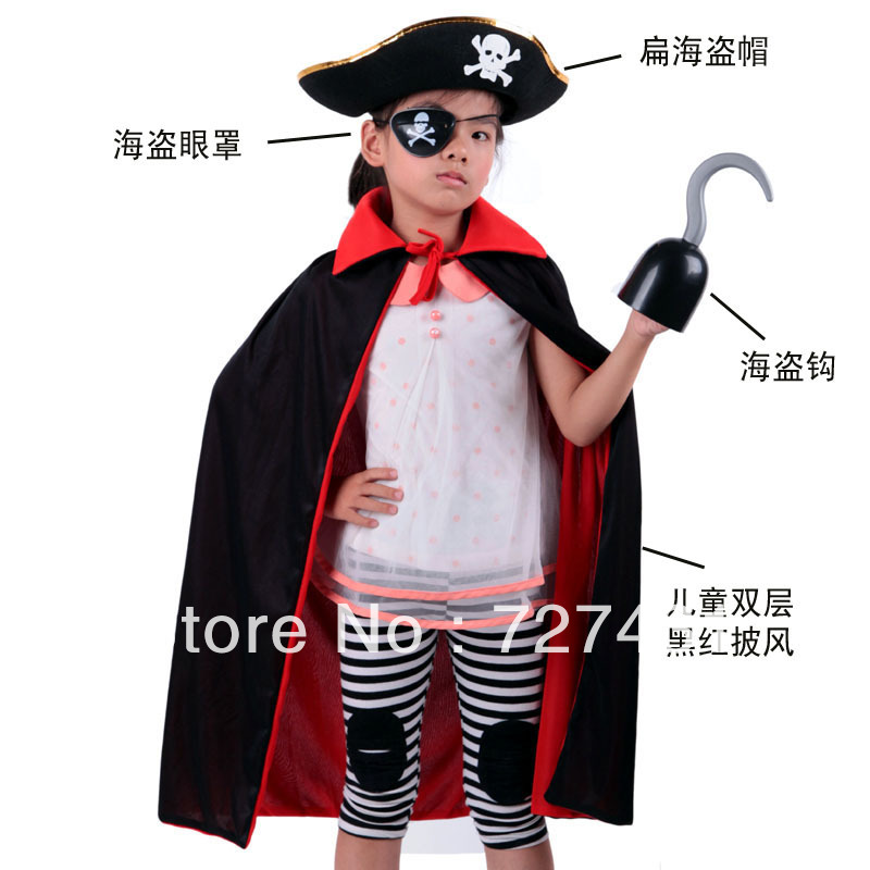 free shipping halloween costume kids pirates design 4 pieceset baby cosplay costume clothes set stock child halloween clothes in anime costumes from - Clothes Halloween