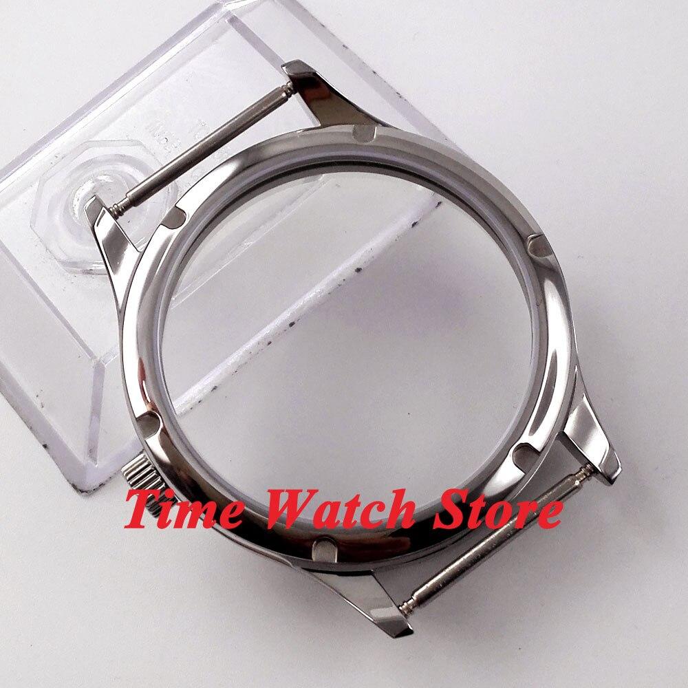 61862f6704a Ajuste ETA 6497 6498 movimento parnis 44mm pequena coroa caixa do relógio  em aço inoxidável Polido C29 em Assistir Rostos de Relógios no  AliExpress.com ...