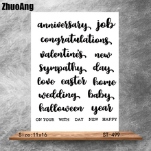 Blessing language Transparent Clear Stamps DIY Scrapbooking Album Card Making Decoration Embossing Stencil