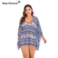 Plus size 3XL/4XL Cover Up 2019 new Women Swimsuit Beach Dress Swimwear Summer Ladies Cover Ups Bathing Suit Beach Wear