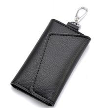 Keychain Men Wallet Pouch Organizer Card-Bag Key-Case Car-Key Mini Genuine-Leather Women