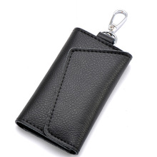 Keychain Men Wallet Pouch Organizer Card-Bag Key-Case Mini Genuine-Leather Women Housekeeper